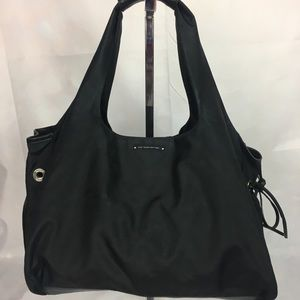 Kate Spade Black Leather Nylon Shoulder Bag
